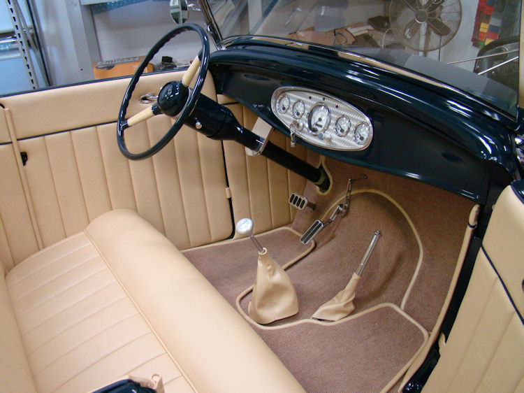 1932 Ford Roadster Interior Trim Work