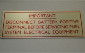 Electrical warning plaque