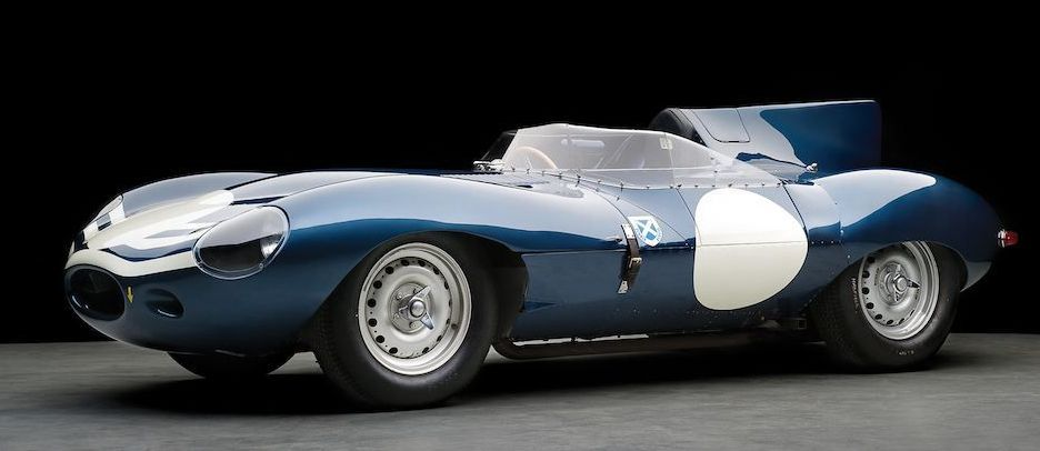 An original factory 'long nose' D Type (XKD 504) - Inspiration for the Team CJ Jaguar D Type
